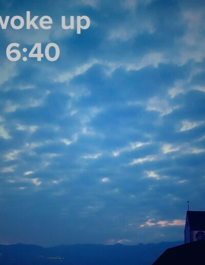 sunrise 105 - I woke up at - NFT Raphael Dudler