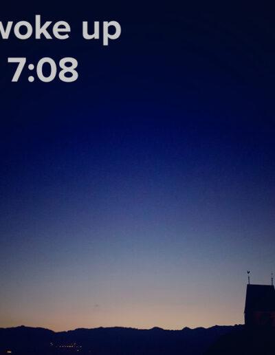 sunrise 112 - I woke up at - NFT Raphael Dudler