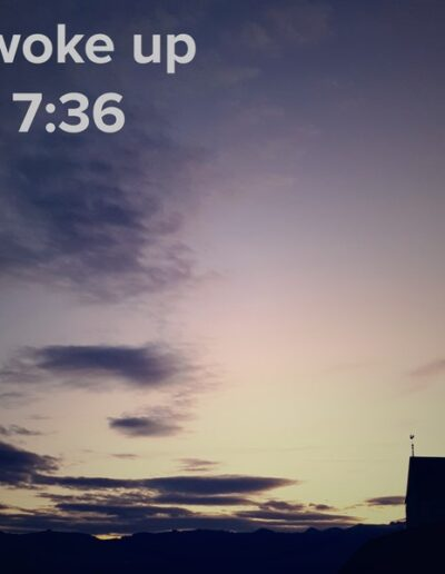 sunrise 113 - I woke up at - NFT Raphael Dudler