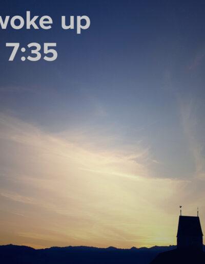 sunrise 115 - I woke up at - NFT Raphael Dudler