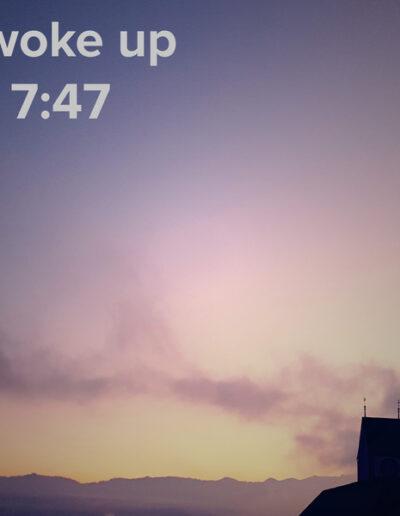 sunrise 117 - I woke up at - NFT Raphael Dudler