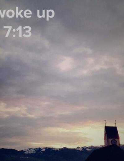 sunrise 121 - I woke up at - NFT Raphael Dudler