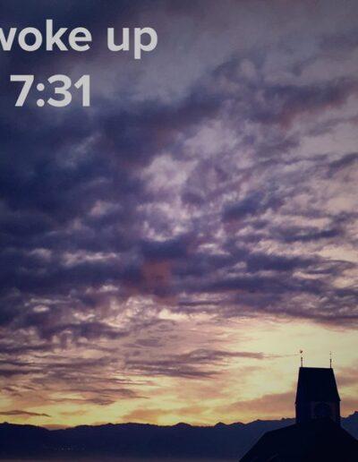 sunrise 122 - I woke up at - NFT Raphael Dudler
