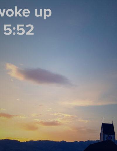 sunrise 24 - I woke up at - NFT Raphael Dudler
