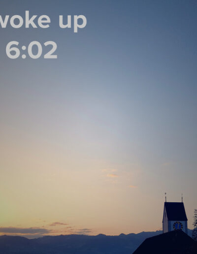 sunrise 25 - I woke up at - NFT Raphael Dudler