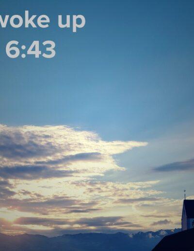 sunrise 26 - I woke up at - NFT Raphael Dudler