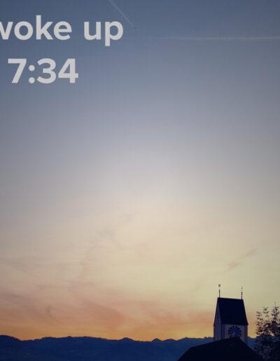 sunrise 33 - I woke up at - NFT Raphael Dudler