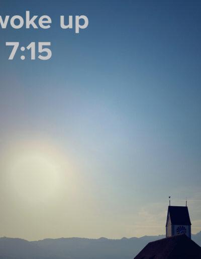 sunrise 35 - I woke up at - NFT Raphael Dudler