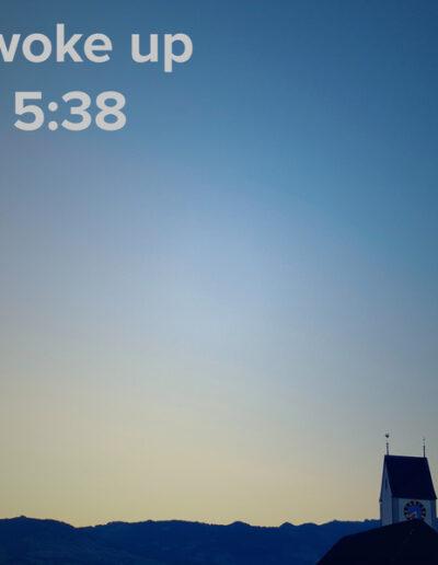 sunrise 48 - I woke up at - NFT Raphael Dudler