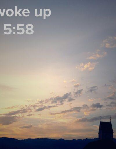sunrise 57 - I woke up at - NFT Raphael Dudler
