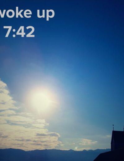 sunrise 59 - I woke up at - NFT Raphael Dudler