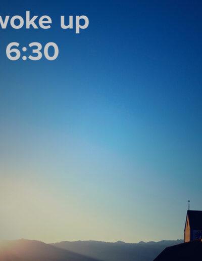 sunrise 63 - I woke up at - NFT Raphael Dudler
