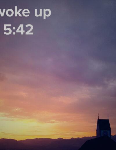 sunrise 65 - I woke up at - NFT Raphael Dudler