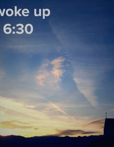 sunrise 71 - I woke up at - NFT Raphael Dudler