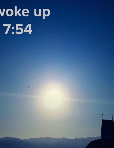 sunrise 73 - I woke up at - NFT Raphael Dudler