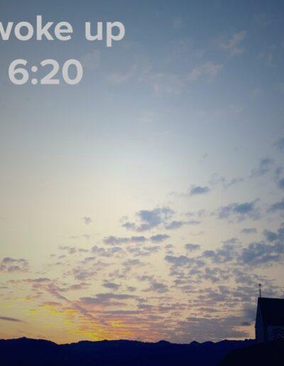 sunrise 77 - I woke up at - NFT Raphael Dudler