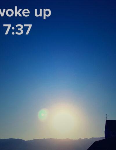 sunrise 89 - I woke up at - NFT Raphael Dudler