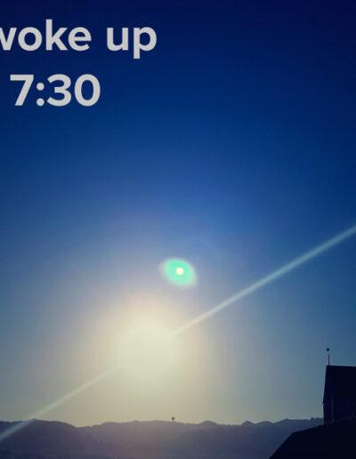 sunrise 90 - I woke up at - NFT Raphael Dudler
