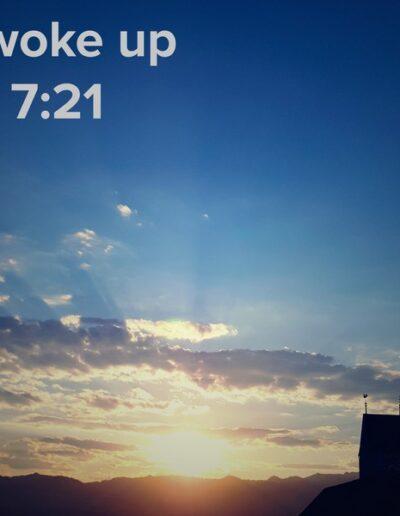 sunrise 91 - I woke up at - NFT Raphael Dudler